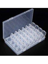 Пластиковый контейнер для страз на 28 ячеек, Kodi