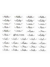 Наклейки для ногтей (Стикеры) Nail Art Stickers № 055 Silver, Kodi